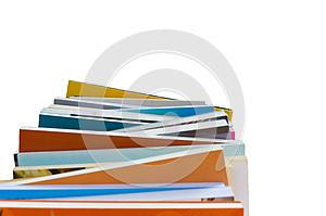 Colorful Book Stack Isolate In White Background Stock Photography - Image: 26582962