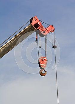 Crane Hook On A Blue Sky Royalty Free Stock Image - Image: 26590776