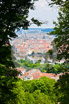 Through Trees On A Petrin Hill Royalty Free Stock Photo - Image: 26592265