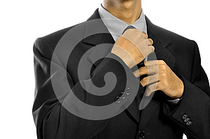 Adjusting Necktie Stock Images - Image: 26593824