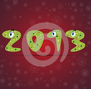 New Year Snake Gift Card Background Stock Photo - Image: 26595460