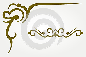 Calligraphic Design Element Stock Photography - Image: 26595702
