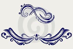 Calligraphic Design Element. Doodle Style Stock Image - Image: 26595731
