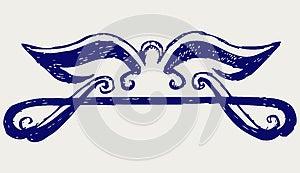 Calligraphic Design Element. Doodle Style Stock Photos - Image: 26595733