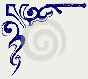 Calligraphic Design Element. Doodle Style Royalty Free Stock Images - Image: 26595779