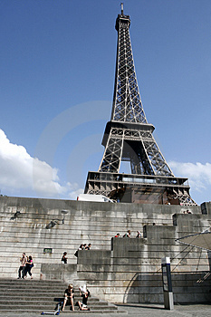 Eiffel Tower of Paris Stock Images