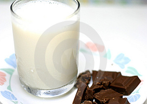 Milk And Chocolate Stock Photos - Image: 2663413