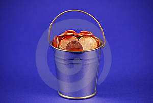 Bucket 'O Pennies Royalty Free Stock Images - Image: 2664179