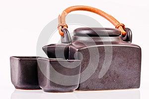 Black Ceramic Teapot On White Stock Photo - Image: 26600590