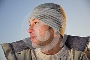 Winter Male Portrait. Stock Photo - Image: 26612470