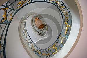 Staircase In Spiral Art Nouveau. Stock Images - Image: 26613564