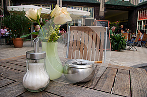 Ashtray On Outdoor Bar Table. Stock Photography - Image: 26613572