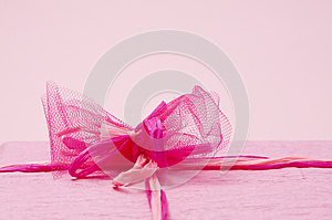 Pink Color Gift Box With Ribbon Stock Photos - Image: 26614213