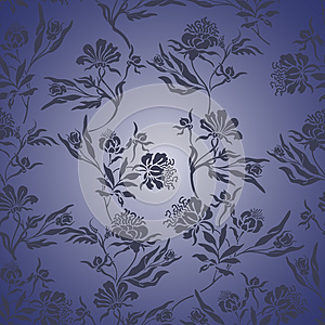 Blue Floral Seamless Background Royalty Free Stock Images - Image: 26620559
