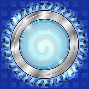 Blue Abstract Window Royalty Free Stock Images - Image: 26625229