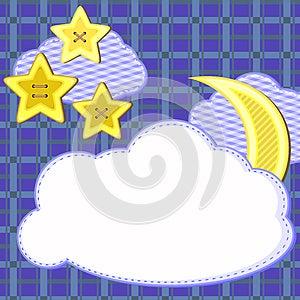 Scrapbook Night Sky Card Stock Photos - Image: 26625333