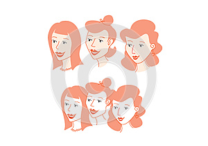 3 Ladies Head Only Royalty Free Stock Photos - Image: 26625998