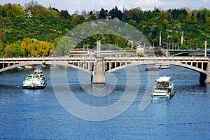 Vltava River In Prague, Czech Republic Royalty Free Stock Image - Image: 26631636