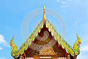 Roof Temple Buddha In Thailand Stock Photography - Image: 26633572