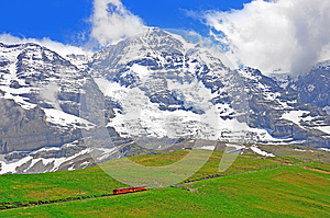 Narrow Gauge Railway. Switzerland. Stock Photos - Image: 26635203