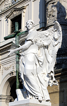 Statue In St. Charles's Church, Vienna Royalty Free Stock Photography - Image: 26640917