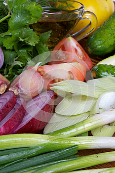 Making Vegetable Salad Royalty Free Stock Photo - Image: 26645095