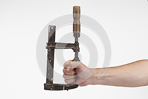 Old Tool Tightens Hand Stock Photos - Image: 26646683