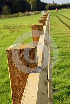 Long Wooden Fence. Stock Photos - Image: 26649423