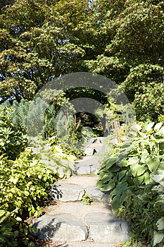 Garden Step Path Royalty Free Stock Photo - Image: 26653005