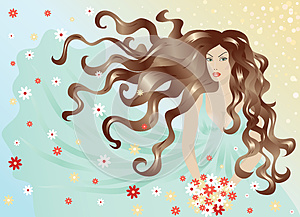 Woman With Hair And Dress Flying In The Wind Stock Images - Image: 26656444