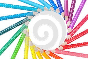 Frame From Color Pencils Isolated Stock Image - Image: 26658261