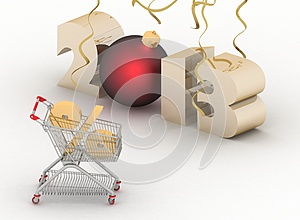 Concept Of New-year Sales Royalty Free Stock Photos - Image: 26661948