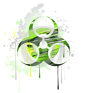 Symbol Of Biological Danger Drawn With Paint Royalty Free Stock Photography - Image: 26662107