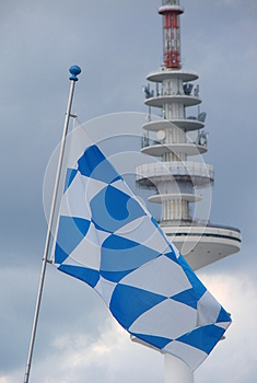 Flag And Tv Tower Royalty Free Stock Images - Image: 26675319