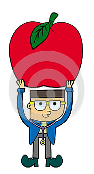 A Doctor With An Apple Stock Images - Image: 26686894