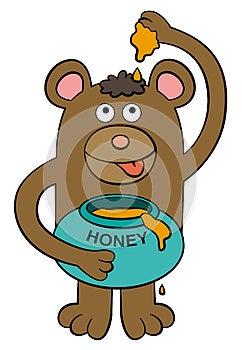 Bear Loves Honey Royalty Free Stock Photos - Image: 26686928