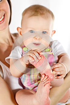 Baby's Feet Stock Image - Image: 26691851