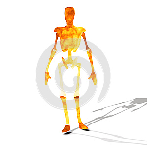 Fire Cyborg Stock Photos - Image: 26697313