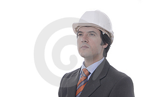 Man With Helmet Of Work In The Royalty Free Stock Photography - Image: 2671137
