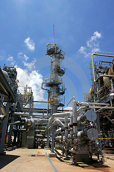 Gas Factory Royalty Free Stock Photo - Image: 2672485