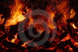 Big fire Stock Photo