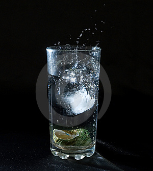 Ice Splashing Water Stock Image - Image: 2675061