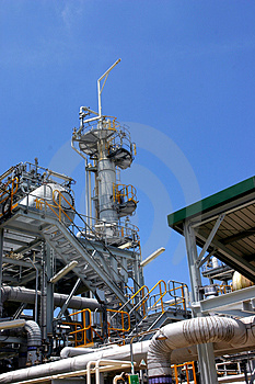Gas Factory Royalty Free Stock Image - Image: 2675336