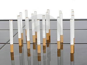 Cigarettes On A Table Stock Photo - Image: 2677130