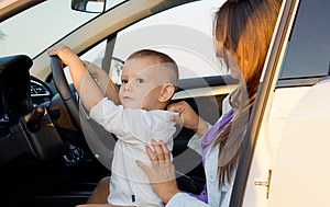 Small Boy Pretending To Drive Stock Images - Image: 26718594