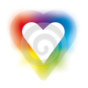 Rainbow Heart Royalty Free Stock Images - Image: 26720749