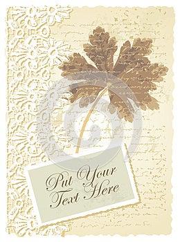 Romantische Karte Mit Pelargonie Stockfotos - Bild: 26751723