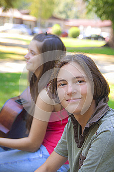 Teenage Boy In The Park Royalty Free Stock Photography - Image: 26767437