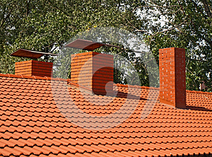 The Roof Is Covered With Orange Tiles Royalty Free Stock Images - Image: 26778619