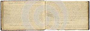 Ursprüngliches Weinlesenotizbuch Lizenzfreie Stockbilder - Bild: 26786949